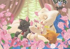 Disney's The Aristocats:) Disney Pixar, Disney Cats, Arte Disney, Disney Fan Art, Disney And Dreamworks, Disney Love, Disney Magic, Disney Characters, Marie Cat