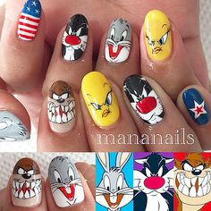 "Beauty Blog — Mananails on Instagram: ""looney Tunes"""