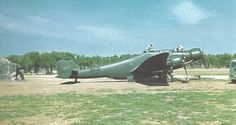 Italian bomber CANT Z.1007bis of 261 Squadron on the Sicilian airport