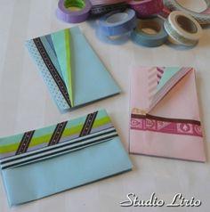 A4用紙+マスキングテープのぽち袋 折り方