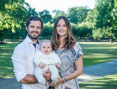 Prince Carl Philip, Princess Sofia and little prince Alexander. Photo Kate Gabor.