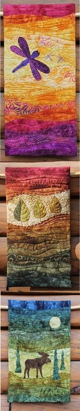 These Art quilts are simply amazing. I would love to attempt something like this one day.