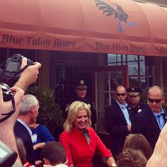 Ann Romney Visited Merchants Square in October 2012.