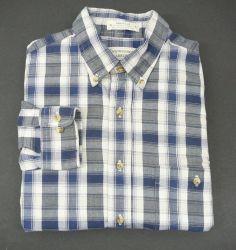 TOURNAMENT ARROW  Chevella mens shirt M LS blue plaid Long Sleeve casual  #Arrow #ButtonFront
