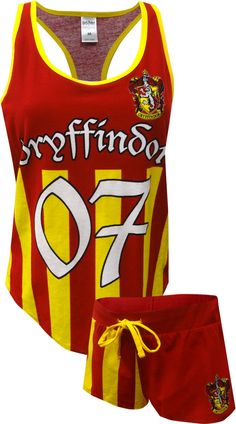 5a40692ab Quidditch Jersey Tank and Shorts Sleep Set will have you ready to ...