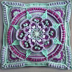 Transcendent Crochet a Solid Granny Square Ideas. Inconceivable Crochet a Solid Granny Square Ideas. Motif Mandala Crochet, Crochet Motifs, Crochet Blocks, Granny Square Crochet Pattern, Afghan Crochet Patterns, Crochet Stitches, Knitting Patterns, Crochet Afghans, Crochet Granny