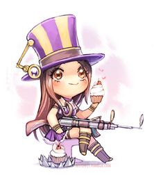 Chibified Caitlyn, Sheriff of Piltover by Just Duet