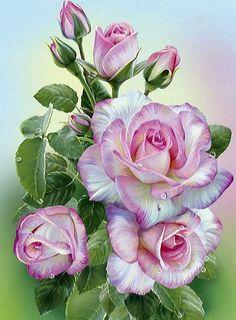 Схема вышивки «Розы» - Вышивка крестом