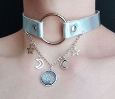 Jewelry Trends 2018 - Celestial O Ring Choker ☆ ☽ ☆ OfStarsAndWine on etsy - Flashmode Middle East Cute Fashion, Diy Fashion, Fashion Jewelry, Fashion Poses, Fashion Editorials, Kawaii Accessories, Jewelry Accessories, Jewelry Trends 2018, O Ring Choker