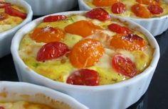 Clafoutis de tomates cerises au saint paulin