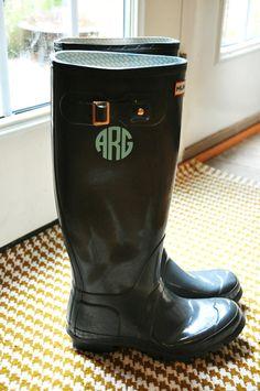 Rain Boot Monogram Decals