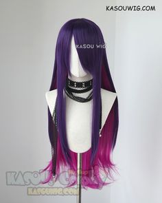 [ Kasou Wig ] League of Legends Star Guardian Syndra long purple pink cosplay wig Cosplay Hair, Cosplay Outfits, Cosplay Wigs, Kawaii Hairstyles, Pretty Hairstyles, Wig Hairstyles, League Of Legends, Manga Hair, Anime Hair