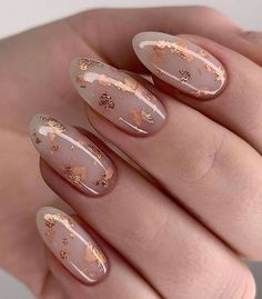 The 45 pretty nail art designs that perfect for spring looks 8 - nail art designs, pink nails, pink nail art ideas, glitter nails, glitter nail art d. Pretty Nail Designs, Pretty Nail Art, Nail Designs With Gold, Fake Nail Designs, Almond Nails Designs, Winter Nail Designs, Simple Nail Designs, Nagellack Trends, Pink Nail Art