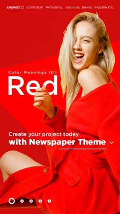A high-energy passionate color, red has had its fair share of symbolism throughout history. From being incorporated as a sign of power to being gifted in flower bouquets, red can include different meanings. But, how do you use it to design a website or product?   #tipsandtricks #WordPress #Newspaper #theme #webdesign #webdesigner #website #blog #blogging #ux #ui #red #redcolor Color Meanings, Flower Bouquets, High Energy, Newspaper, Color Red, Meant To Be, Blogging, Wordpress, Web Design