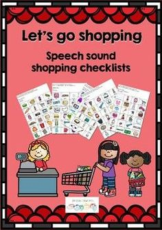 Let's go shopping - Shopping I Spy for Articulation Homework Let's go shopping helps structure homework for Articulation.  Shopping is a routine that every family participates in. Children are sometimes captured in the shopping trolley and are face to face with their parent - the perfect place for practice.