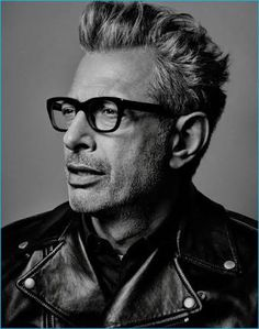 Photographed by Craig McDean, Independence Day: Resurgence actor Jeff Goldblum brings his modern style to the pages of Interview magazine. The actor sports a look right out of his own wardrobe. Craig Mcdean, Foto Face, First Ladies, Celebrity Portraits, Celebrity Faces, Black And White Portraits, Looks Cool, Famous Faces, Belle Photo