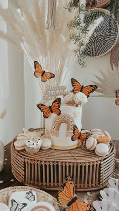 Butterfly Birthday Party, Baby Girl 1st Birthday, Bday Girl, First Birthday Parties, Birthday Party Themes, First Birthdays, Birthday Ideas, Baby Girl Shower Themes, Baby Shower Decorations