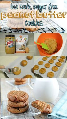 These low carb peanut butter cookies and easy to make and can be enjoyed by anyone! With only 3 ingredients, you can much on this sugar free dessert in no time! More recipes like this at…More 6 Guilt Free Low Carb Dessert Recipes Sugar Free Peanut Butter Cookies, Low Carb Peanut Butter, Sugar Free Desserts, Sugar Free Recipes, Dessert Recipes, Brownie Recipes, Dessert Ideas, Keto Dessert Easy, Keto Cookies