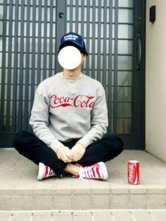またロゴスウェットコーデ🙌 最近色々なブランドがコカ・コーラさんとコラボしてますね🎵 便乗して