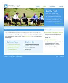 FREE Modern Aqua to White Style Website Template by: testamentdesign.com