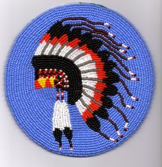 my beaded head-dress