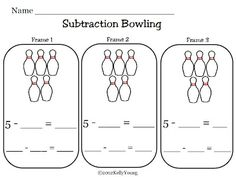 FREE - subtraction bowling - only 4 pages...so not many options, you could cut and paste some more sheets