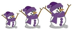Snowman embroidery  applique machine embroidery by AdelaidesCorner