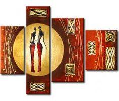 Pintura moderna Africanos en el sol