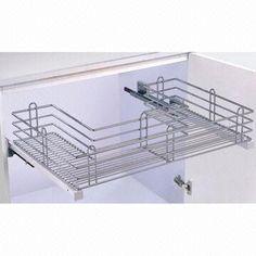 Under Sink Pull-out Basket Kitchen Cabinet Organizer/Storage with Soft Closing