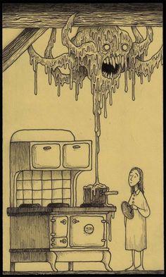 John Kenn Mortensen kitchen monster