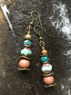 Boho Earrings Hippie Earrings Dangke Earrings by BeachBohoJewelry