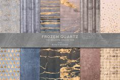 Frozen Quartz Watercolor & Gold by Blixa 6 Studios on Creative Market