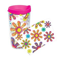 Sun and Surf Flip Flops 16 Oz. Tumbler with Lid