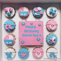 Cupcakes For Kids Wish Birthday With Name And Photo