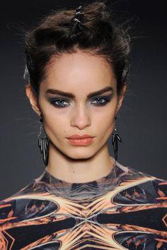 Nicole Miller • FW14 • Model: Luma Grothe, MUA: James Kaliardos • // Detail of that incredible eye look #Runway #Beauty