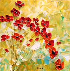 Red Poppies by Nata