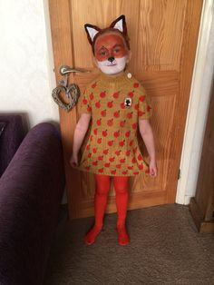 Mrs Fox Costume - Felicity Fox - World Book Day - Fantastic Mr Fox - Roald Dahl Fox Costume, Dress Up Costumes, Diy Costumes, Halloween Costumes, Costume Ideas, Fox Fancy Dress, Fancy Dress For Kids, World Book Day Costumes, Book Week Costume