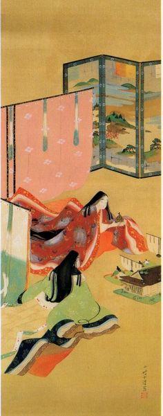 伊藤小坡  『ひいな遊びの図』