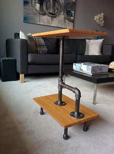 Rustic industrial end table - IKEA Hackers