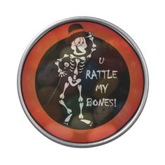 Rattle My Bones.Candy Tin. Look for more Halloween products in my store.  Designs by DonnaSiggy. #halloween, #skeleton, #candytin, #zazzle www.zazzle.com/designsbydonnasiggy?rf=238713599140281212