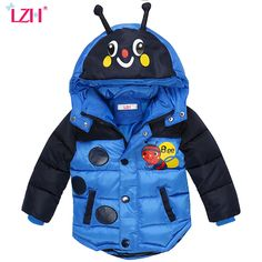 Nice LZH Baby Boys Jacket 2017 Winter Jacket For Boys Bees Hooded Down Jacket Kids Warm Outerwear Children Clothes Infant Boys Coat - $ - Buy it Now!