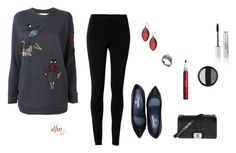"""""""Red"""" by dmiddleton ❤ liked on Polyvore featuring Max Studio, RED Valentino, Chanel, Alexis Bittar and Stila"""