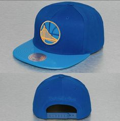 Mitchell & Ness Cap / Snapback NBA Patent 2tone Tonal Golden State Warriors In Blue Men