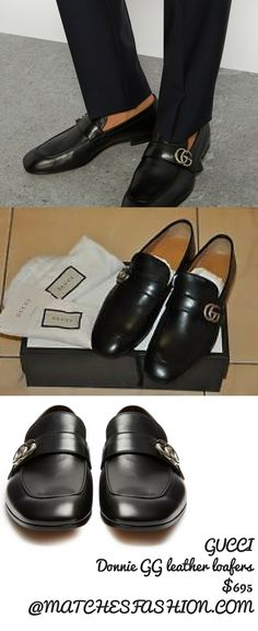 9a5d342f77a GUCCI Donnie GG leather loafers  695 AT MATCHESFASHION.COM Available  Colors  NAVY Available Sizes