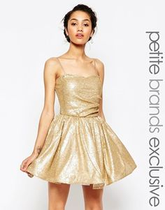 Maya Petite Sequin Prom Dress