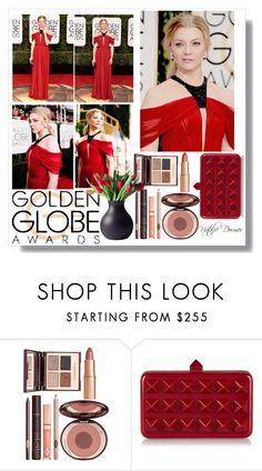 """Natalie Dormer Golden Globes"" by bmaroso ❤ liked on Polyvore featuring Charlotte Tilbury, Valentino, Menu, RedCarpet, GoldenGlobes, CelebrityStyle and goldenglobeawards"
