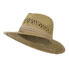 Solid Band Safari Straw Hat - Khaki Fashion Hats, Safari, Band, Sash, Bands, Tape, Conveyor Belt