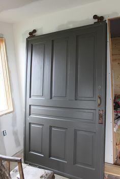 Dragon's Breath from Benjamin Moore one of the most popular interior door colors.
