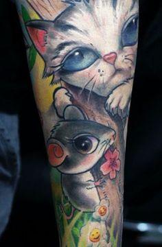 Tattoo Artist - Darwin Enriquez - Cartoon tattoo