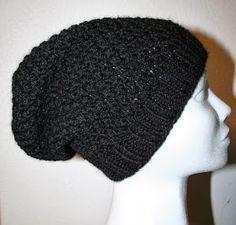 """Oppskrift på """"Baggy lue i perlestrikk"""". Chrochet, Nepal, Winter Hats, Beanie, Cap, Knitting, Creative, How To Make, Clothes"""